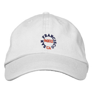SAN FRANCISCO CALIFORNIA, 94102 EMBROIDERED BASEBALL CAP