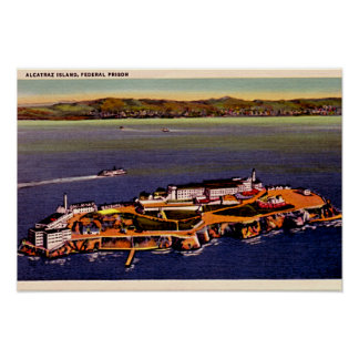 San Francisco, California Alcatraz 1940 Print