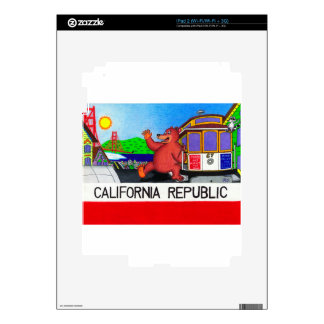 San Francisco California Bear Flag iPad 2 Skin
