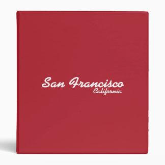 San Francisco, California Binder