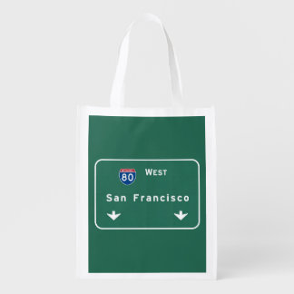 San Francisco California ca Interstate Highway : Grocery Bag
