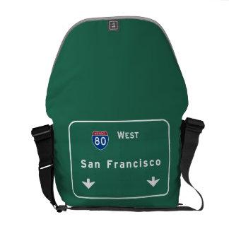 San Francisco California ca Interstate Highway : Messenger Bag