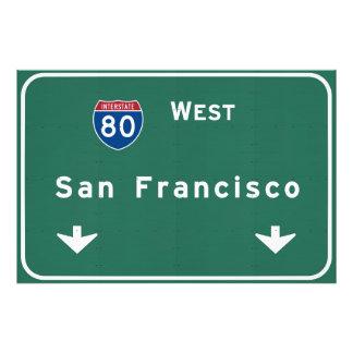 San Francisco California ca Interstate Highway : Photo Print