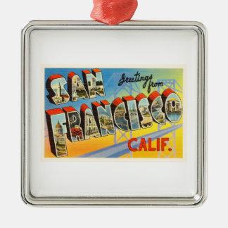 San Francisco California CA Old Travel Souvenir Metal Ornament