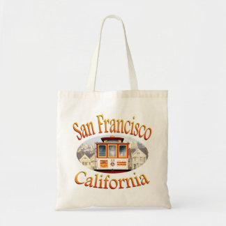 San Francisco California Cable Car Budget Tote Bag