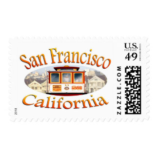 San Francisco California Cable Car Postage Stamp