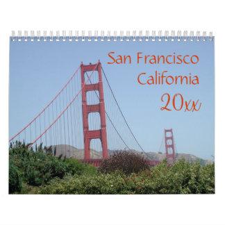 San Francisco California Calendar