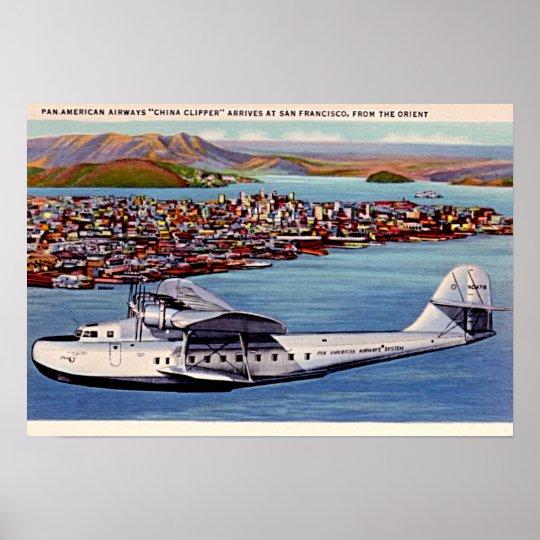 San Francisco, California China Clipper 1940 Poster