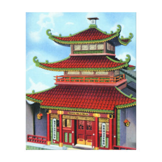 San Francisco California Chinese Telephone Exchang Canvas Print