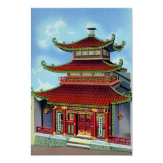 San Francisco California Chinese Telephone Exchang Posters