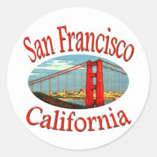 San Francisco California Classic Round Sticker
