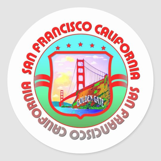 San Francisco California Classic Round Sticker