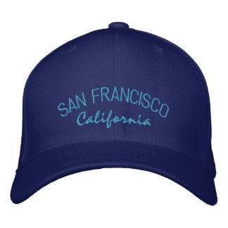 San Francisco California Embroidered Hat