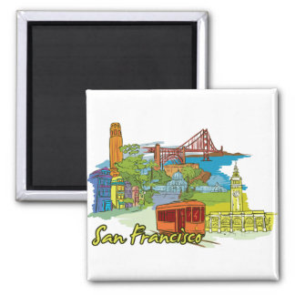San Francisco, California Famous City Magnet