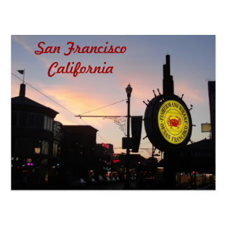 San Francisco California Fisherman's Wharf Sign Postcard
