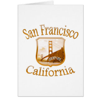San Francisco California Gold Label Stationery Note Card