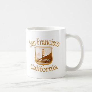 San Francisco California Gold Label Coffee Mugs