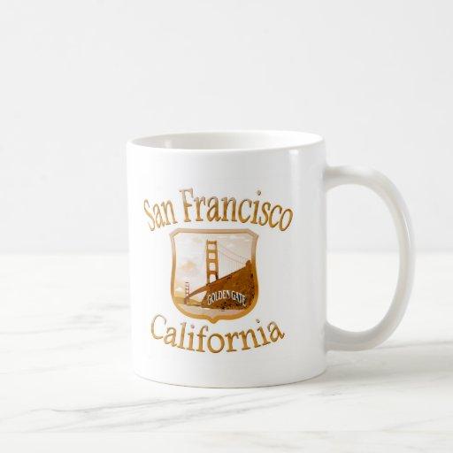 San Francisco California Gold Label Classic White Coffee Mug