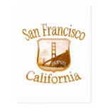San Francisco California Gold Label Post Cards