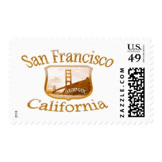 San Francisco California Gold Label Postage Stamp