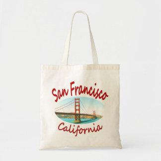 San Francisco California Golden Gate Canvas Bags