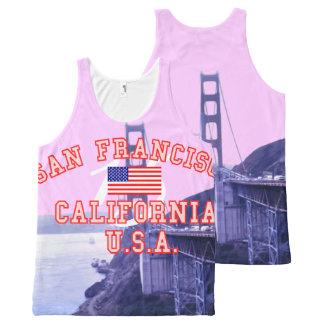 San Francisco California Golden Gate Bridge All-Over Print Tank Top