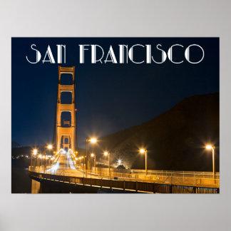 San Francisco California Golden Gate Bridge Poster