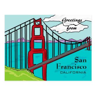 San Francisco California golden gate postcard