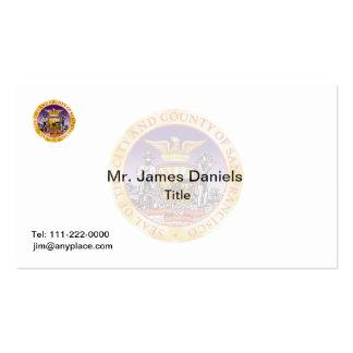 San Francisco California Great Seal Business Card