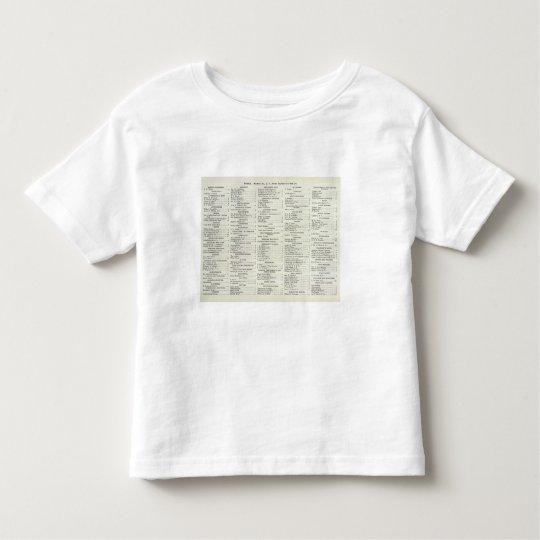 San Francisco California Index Toddler T-shirt