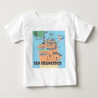 San Francisco California Map Baby T-Shirt