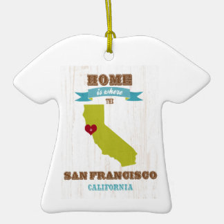 San Francisco, California Map – Home Is Where Christmas Tree Ornament