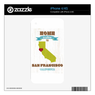 San Francisco, California Map – Home Is Where Skin For iPhone 4S