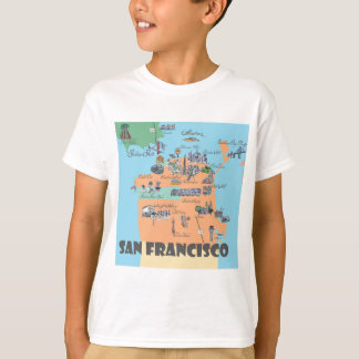 San Francisco California Map T-Shirt