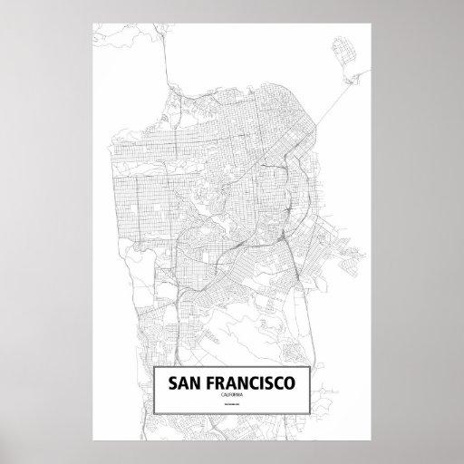 San Francisco, California (negro en blanco) Impresiones