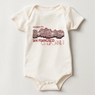 San Francisco California old town baby Baby Bodysuit