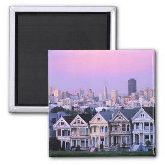 San Francisco, California. Opinión el Victorian Imán Cuadrado