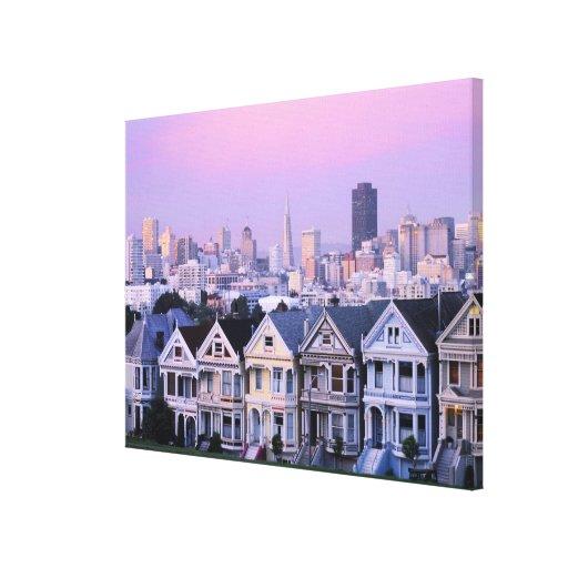 San Francisco, California. Opinión el Victorian Impresion En Lona