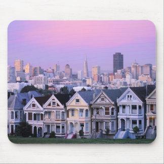 San Francisco California Opinión el Victorian Alfombrilla De Ratón