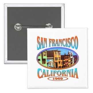 San Francisco California Pin Cuadrada 5 Cm