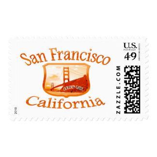 San Francisco California Red Design Postage Stamp