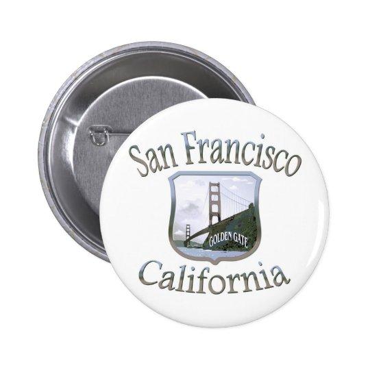 San Francisco California Silver Button