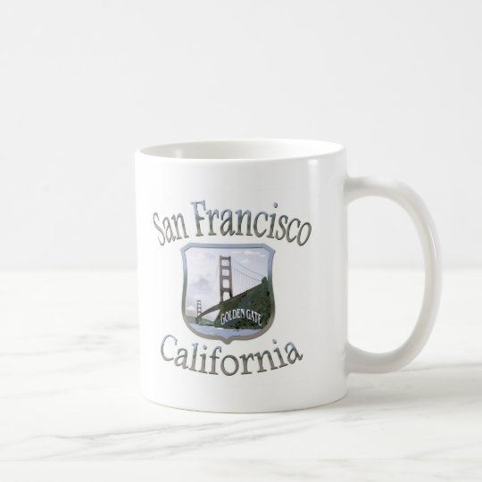 San Francisco California Silver Coffee Mug