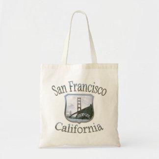San Francisco California Silver Logo Bag