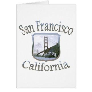 San Francisco California Silver Logo Stationery Note Card