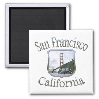 San Francisco California Silver Logo Magnets