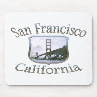 San Francisco California Silver Logo Mouse Pads