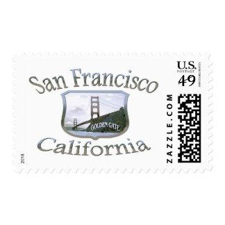 San Francisco California Silver Logo Postage Stamp