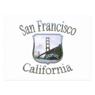 San Francisco California Silver Logo Postcard