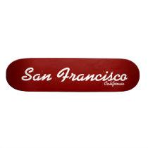 San Francisco, California Skateboard